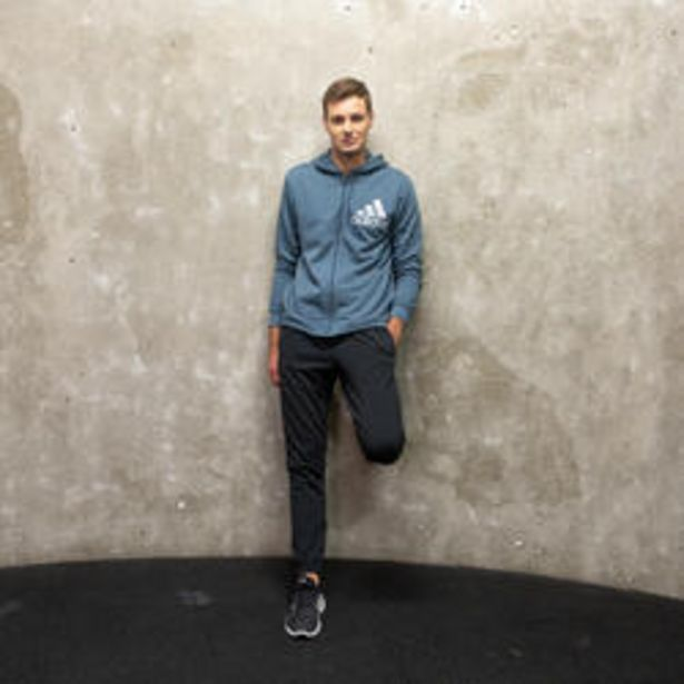 Oferta de Chaqueta con capucha Adidas hombre azul por 29,99€