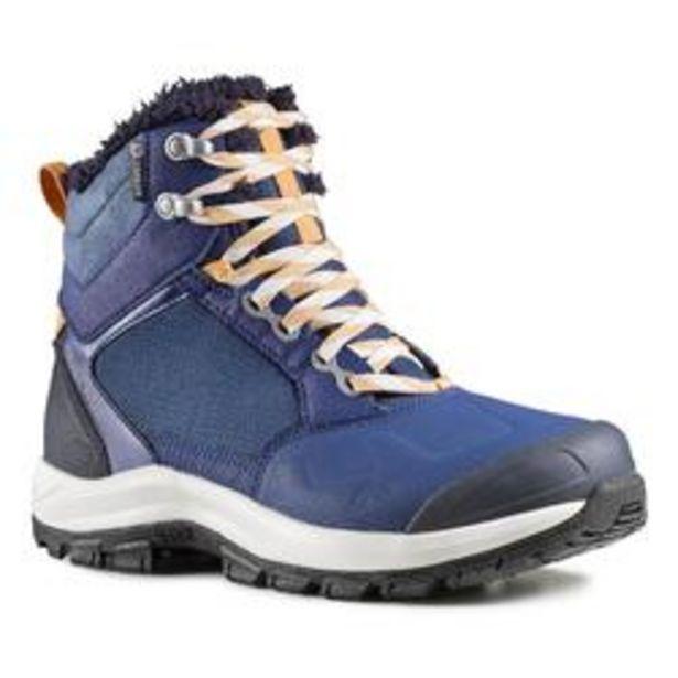 Oferta de Botas de senderismo nieve mujer SH520 x-warm mid azul por 29,99€