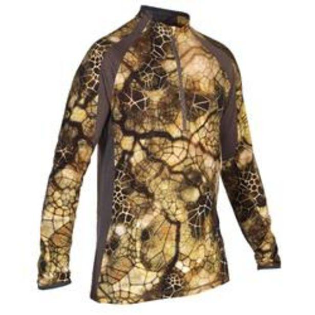 Oferta de Camiseta Caza Solognac 900 Silenciosa Transpirable Lana Merina Camuflaje Sigilo por 34,99€