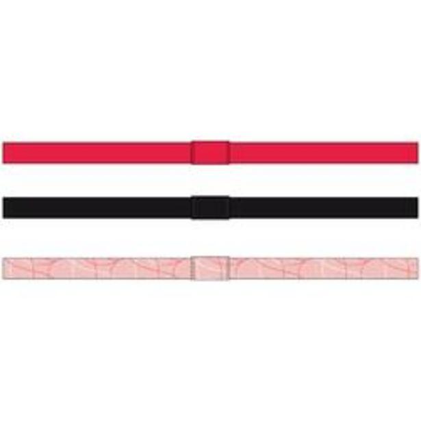 Oferta de Lote x3 cintas S900 niña GIMNASIA JÚNIOR rosa-negro-rosa claro AOP por 1,99€