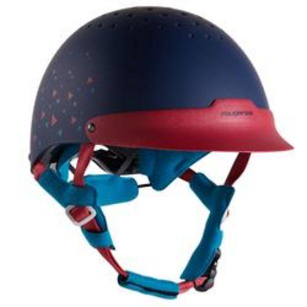 Oferta de Casco equitación 120 azul marino/rosa por 19,99€
