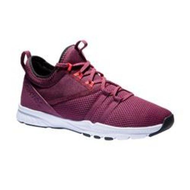 Oferta de Zapatillas Fitness Domyos 120 Mid Mujer Burdeos por 19,99€