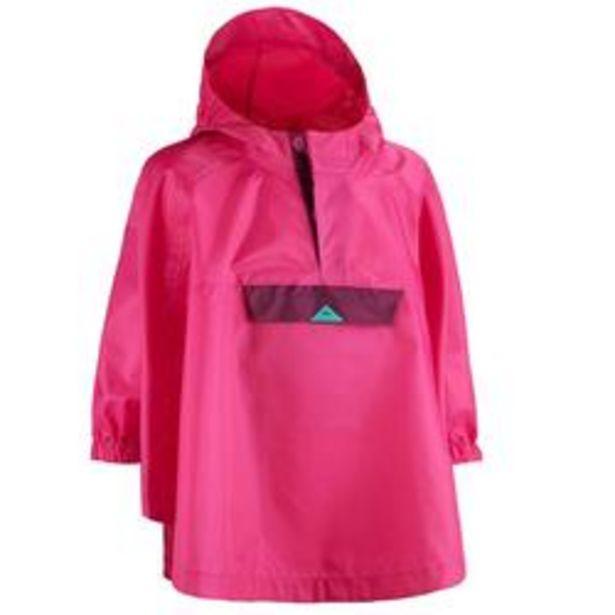 Oferta de Poncho Montaña y Trekking, Quechua, MH 100, Niños Impermeable Rosa por 5,99€
