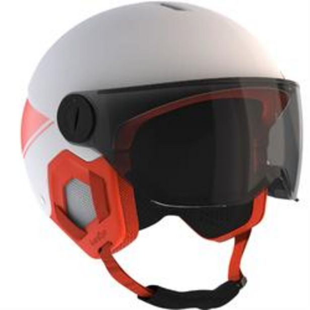 Oferta de Casco Esquí y Snowboard, Wedze, H-KID 550, Niños, Visera, BLANCO Y NARANJA por 29,99€