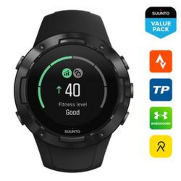 Oferta de Suunto 5 All Black Reloj GPS Pulsómetro Multideporte por 259,99€