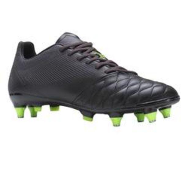 Oferta de Botas de Fútbol Kipsta Agility 540 piel SG adulto negro amarillo por 28,99€