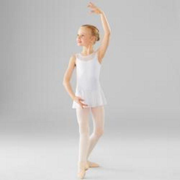 Oferta de Maillot Ballet Domyos Niña De Dos Tejidos Blanca por 6,99€