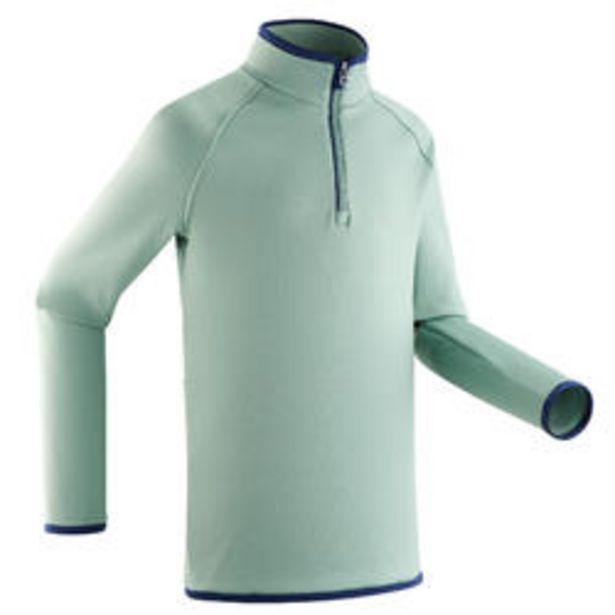 Oferta de Camiseta Térmica Interior de Esquí y Nieve Niños Wedze Freshwarm Verde por 9,99€