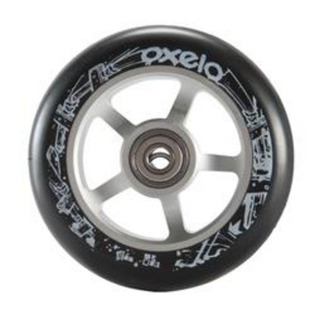 Oferta de Rueda patinete PU de aluminio negro 100 mm por 10,99€