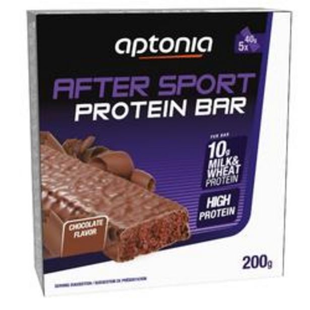 Oferta de Barrita proteica AFTER SPORT chocolate 5 x 40 g por 2,99€