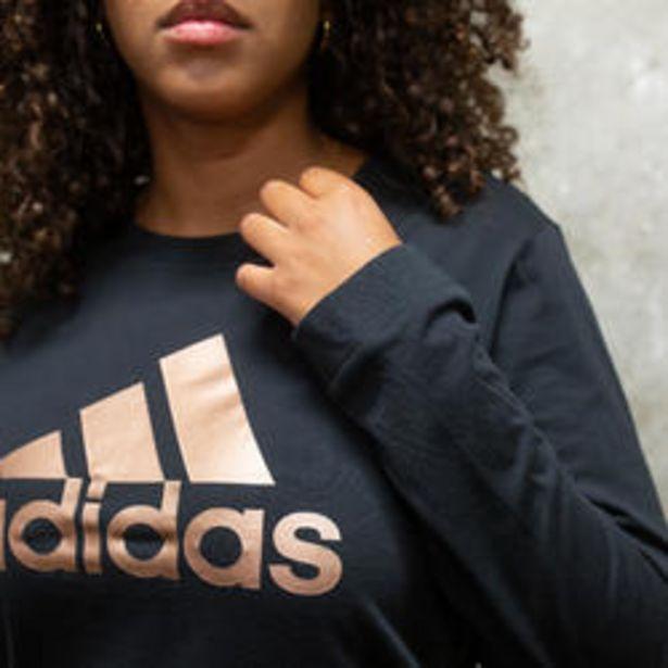 Oferta de Camiseta manga larga Adidas mujer negro por 24,99€