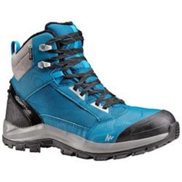 Oferta de Botas de Nieve Apreski Impermeables Hombre Quechua SH520 X-Warm Azul Caña Media por 39,99€