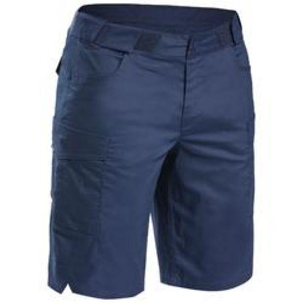 Oferta de Pantalón corto de Montaña y Trekking, Quechua, NH500 Fresh, Hombre, Azul Marino por 12,99€