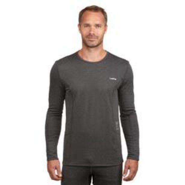 Oferta de Camiseta térmica Esquí y Nieve Interior Wed'ze 500 Hombre Gris por 5,99€