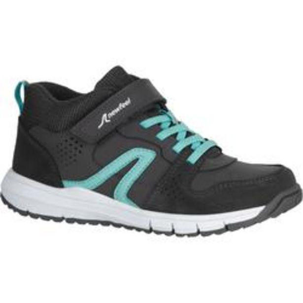 Oferta de Zapatillas infantiles para marcha Protect 560 de cuero gris/turquesa por 19,99€
