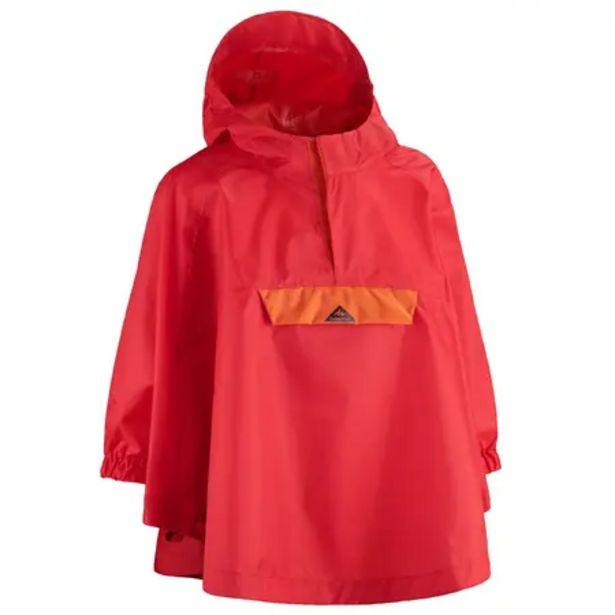 Oferta de Poncho de Lluvia de Montaña y Trekking Niños Quechua MH100 Impermeable Rojo por 5,99€