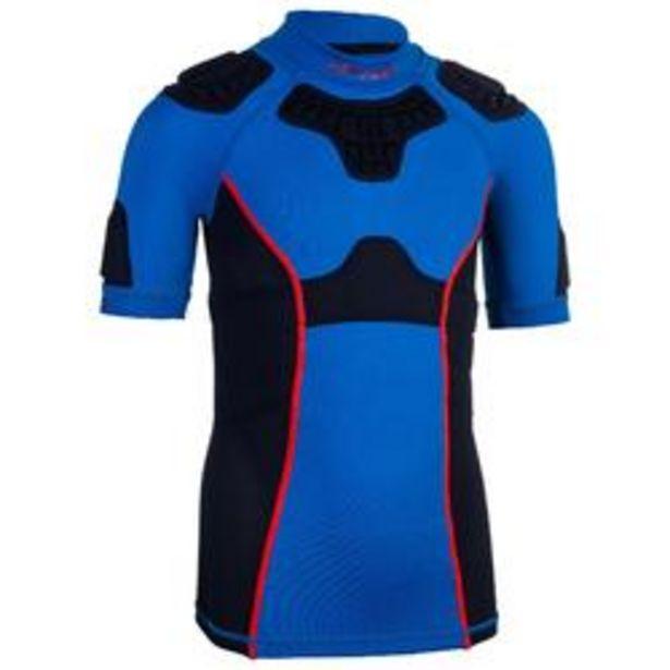 Oferta de Hombrera de Rugby Offload R500 Júnior Azul por 24,99€