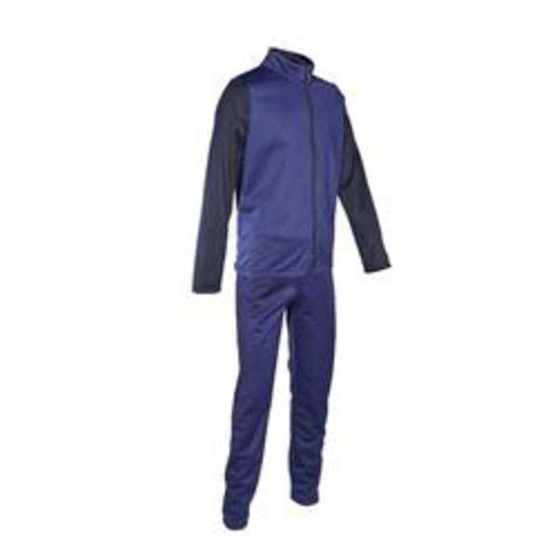 Oferta de Chándal niño niña Domyos GYM'Y S500 transpirable gimnasia deportiva azul marino por 5,39€