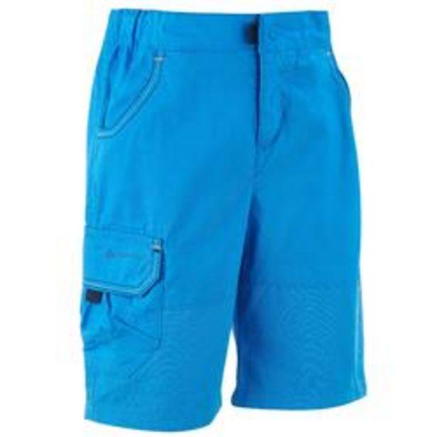 Oferta de Pantalón corto de Montaña y Trekking, Quechua, MH 500, Niños, Azul por 4,99€