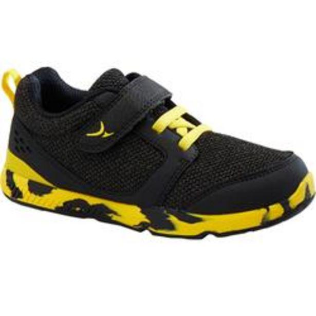 Oferta de Zapatillas Bebé flexible Domyos I Move 550 negro amarillo tallas 25 al 30 por 12,99€