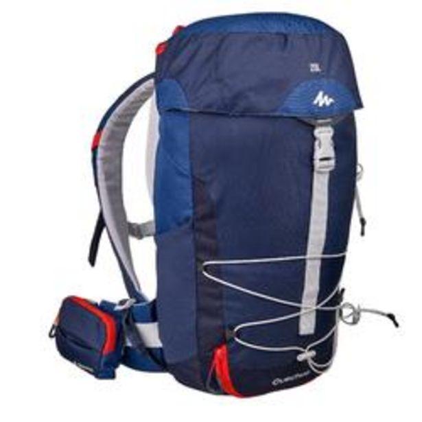 Oferta de Mochila Pequeña de Montaña y Trekking, Quechua, MH100 20 Litros, Azul por 16,99€