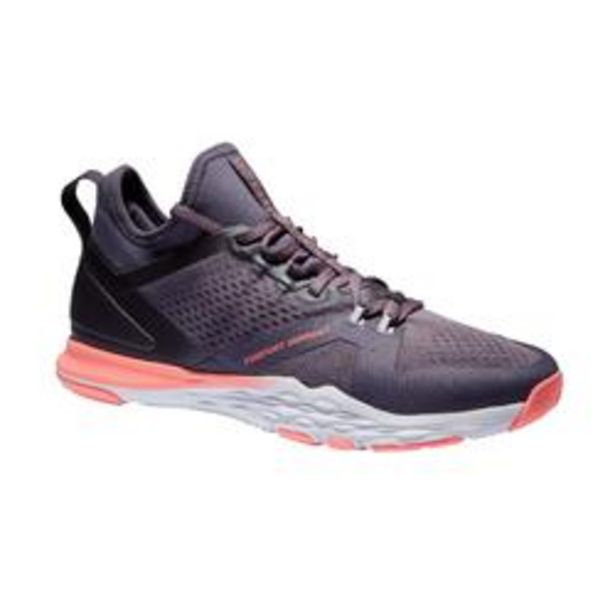 Oferta de Zapatillas Gym Training Domyos 920 Mid mujer gris rosa por 19,99€
