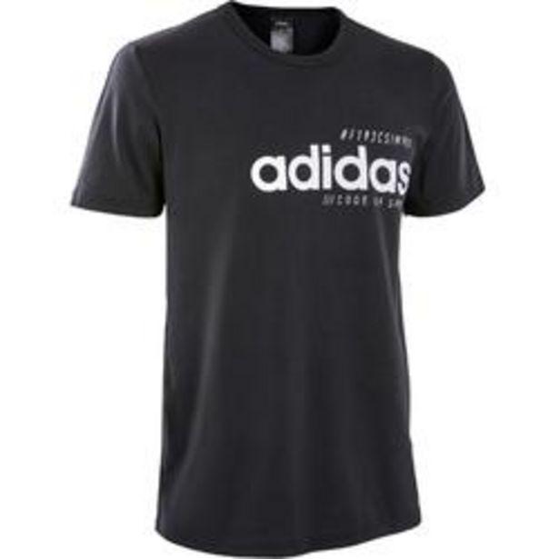 Oferta de Camiseta Manga Corta Gimnasia Pilates Adidas Regular Hombre Negro por 16,99€