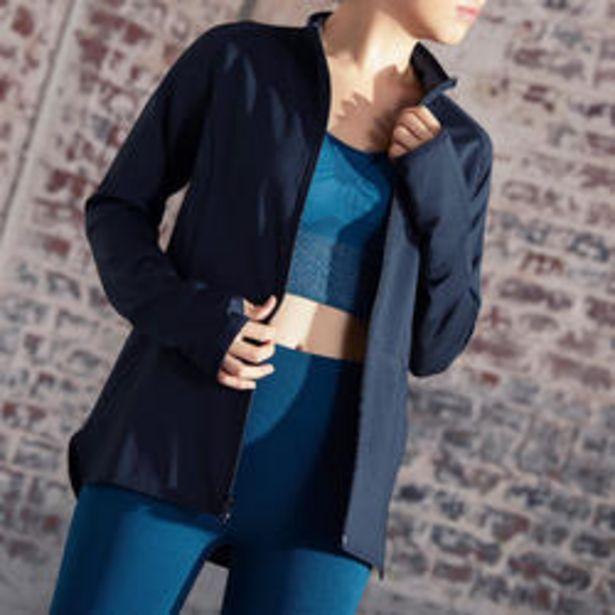 Oferta de Sudadera con cremallera mujer Yoga Domyos chaqueta reversible negro gris por 19,99€