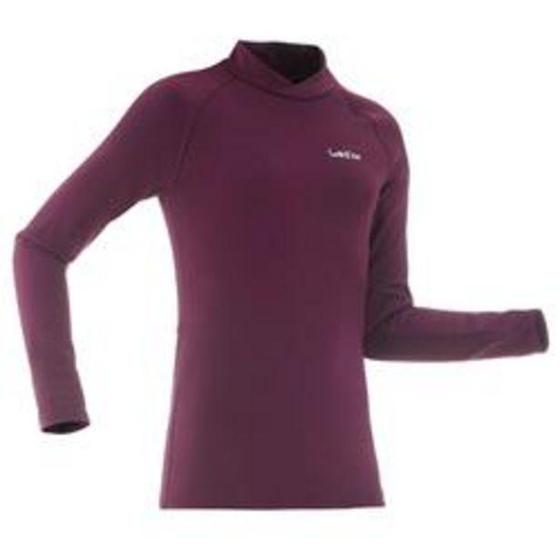 Oferta de Camiseta Térmica de Esquí y Nieve Interior Niños Wedze Freshwarm Violeta por 6,99€