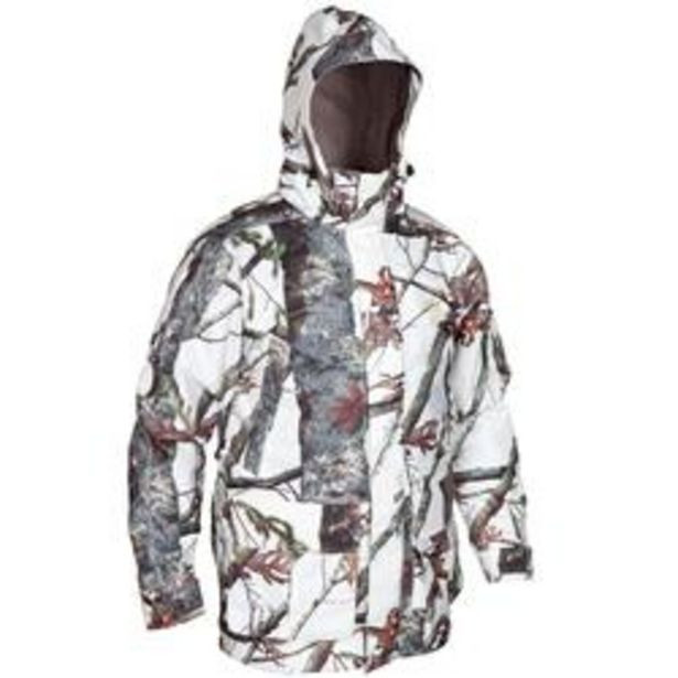 Oferta de Chaqueta Caza Solognac Bgp 300 Hombre Impermeable Calida 3 en 1 Camuflaje Nieve por 60,99€