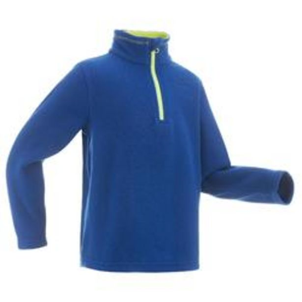 Oferta de Forro polar de montaña trekking niños 7-15 años MH100 azul por 4,99€