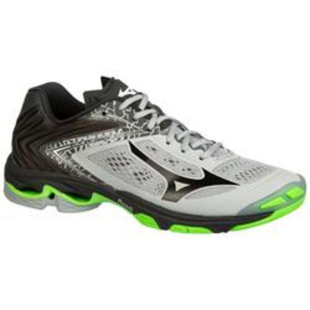 Oferta de Zapatillas de Voleibol Mizuno Wave Lightning hombre gris negro y verde por 79,99€