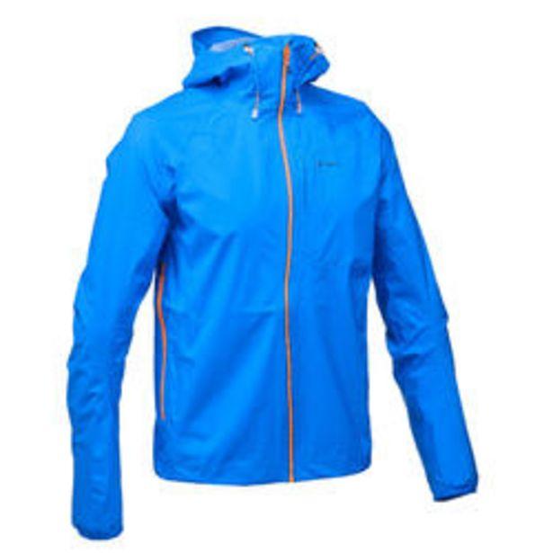 Oferta de Chaqueta impermeable de senderismo rápido Hombre FH500 Helium Rain Azul por 49,99€