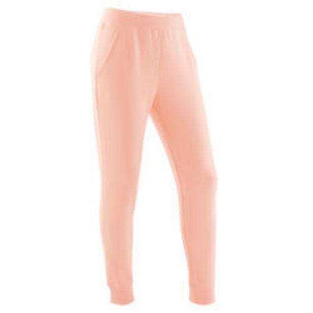 Oferta de Pantalón jogger cálido felpa 100 niños GIMNASIA INFANTIL rosa claro liso por 7,99€