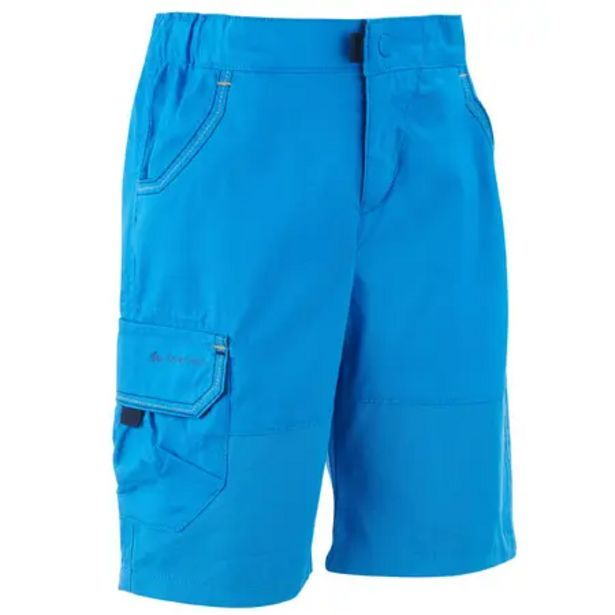Oferta de Pantalón corto de senderismo - MH500 KID azul - niños 2-6 años por 6,99€