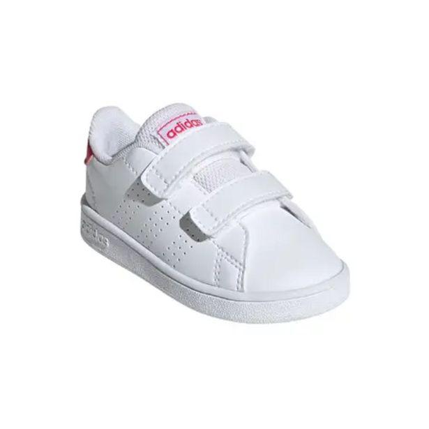Oferta de Zapatillas Adidas bebé primeros pasos Advantage blanco rosa tallas 20 a 27 por 20,99€