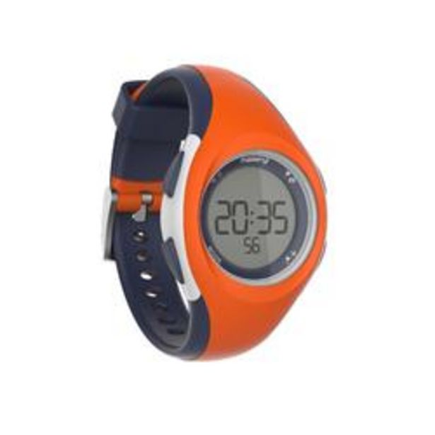 Oferta de Reloj Cronómetro Running Kalenji W200 S Mujer Naranja/Azul por 7,99€