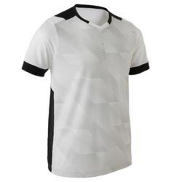 Oferta de Camiseta de Fútbol Kipsta F500 niños blanco y negro por 5,99€