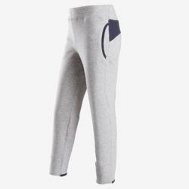 Oferta de Pantalón cálido slim algodón transp 500 niña GIMNASIA INFANTIL gris claro jasp por 7,99€