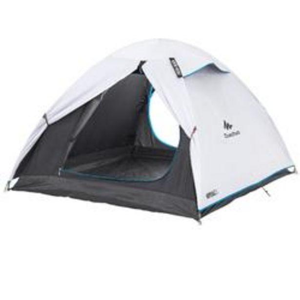 Oferta de Tienda de Camping Pequeña Quechua Arpenaz Fresh&Black 3 Personas por 49,99€