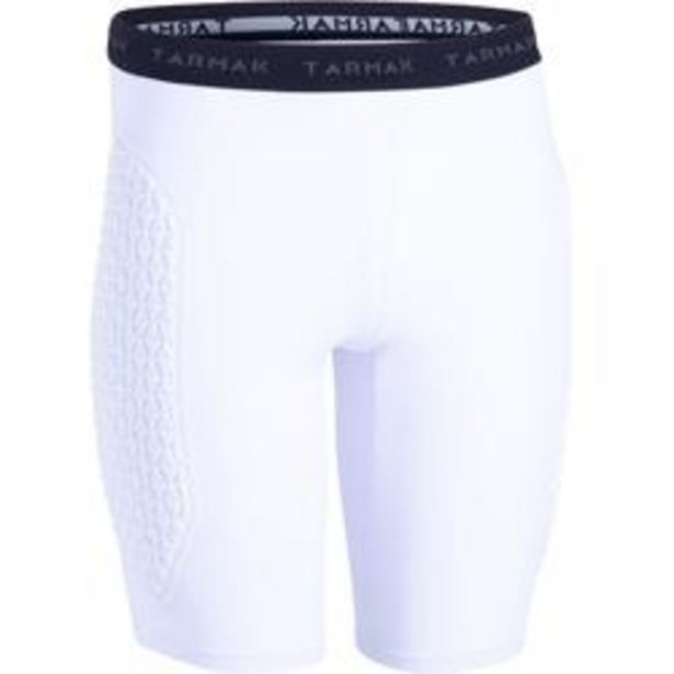 Oferta de Pantalón Corto Interior Protección Balonceto Tarmak USHP500 Mujer blanco por 12,99€