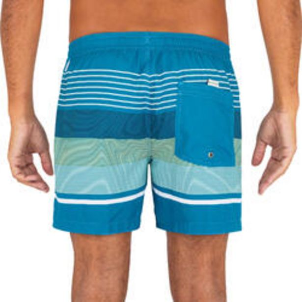 Oferta de Boardshort Corto Quiksilver Hombre Azul Rayas por 22,99€