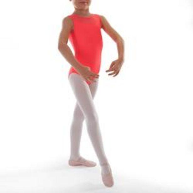 Oferta de Maillot Ballet Domyos Niña Dos Tejidos Coral por 4,99€