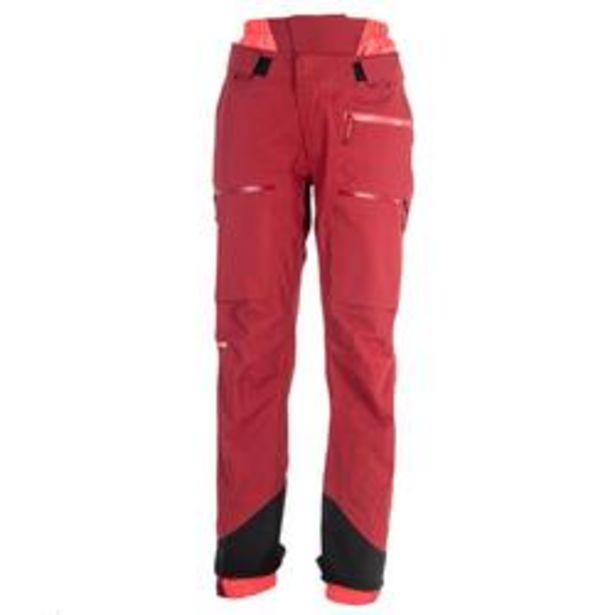 Oferta de Pantalón de Esquí Nieve Mujer Wedze Ski FR900 2 Piezas Pantalón Térmico Burdeo por 99,99€