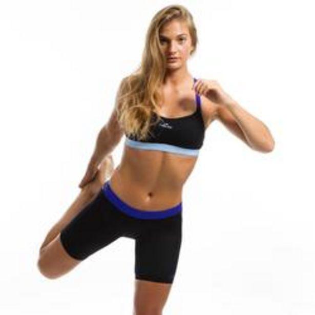Oferta de Short jammer de bikini de aquafitness para mujer Anna negro azul por 4,99€