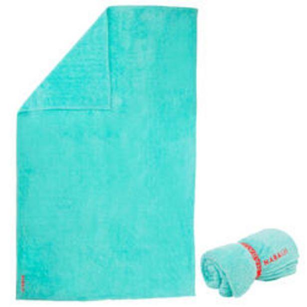 Oferta de Toalla Microfibra Suave Azul Verde Talla XL 110 x 175cm por 9,99€