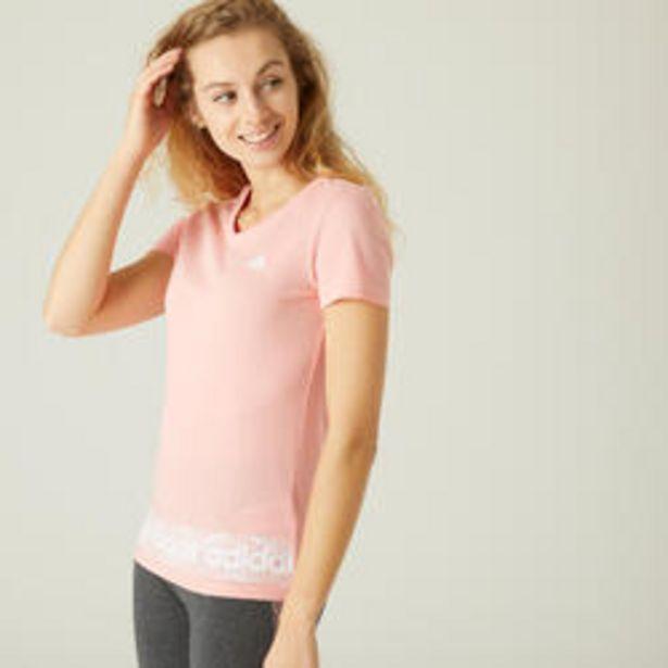 Oferta de Camiseta Adidas slim mujer rosa por 19,99€