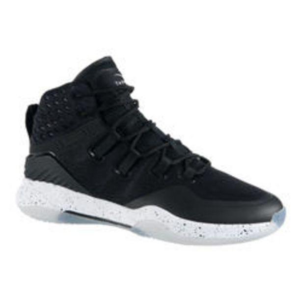 Oferta de Zapatillas Baloncesto Tarmak SC500 High adulto Negro Blanco por 39,99€