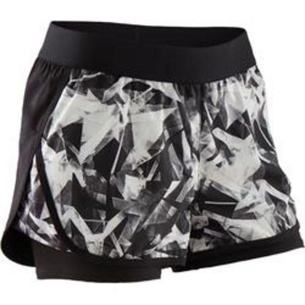 Oferta de Short pantalon corto transpirable W500 niña GIMNASIA INFANTIL negro estampado por 5,99€