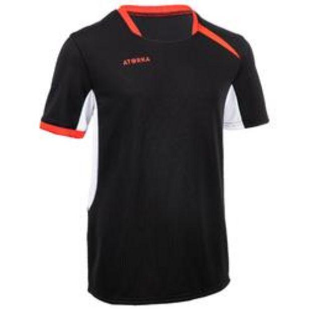 Oferta de Camiseta de Balonmano Atorka H100 Niños Negro Blanco Rojo por 4,49€